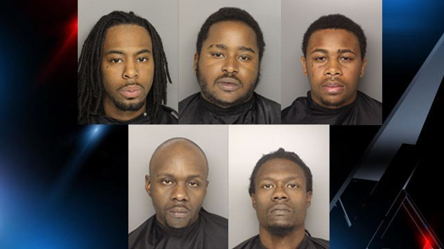 Top left to bottom right: Brown, Cummings, Lewis, Neal and Williamson (Source: GCSO)