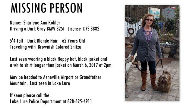 Sharlene Ann Kohler (Source: Lake Lure Police)