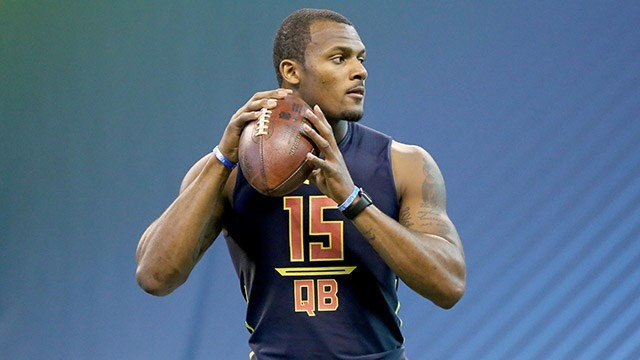 Deshaun Watson at NFL Combine. (Source: AP Images)