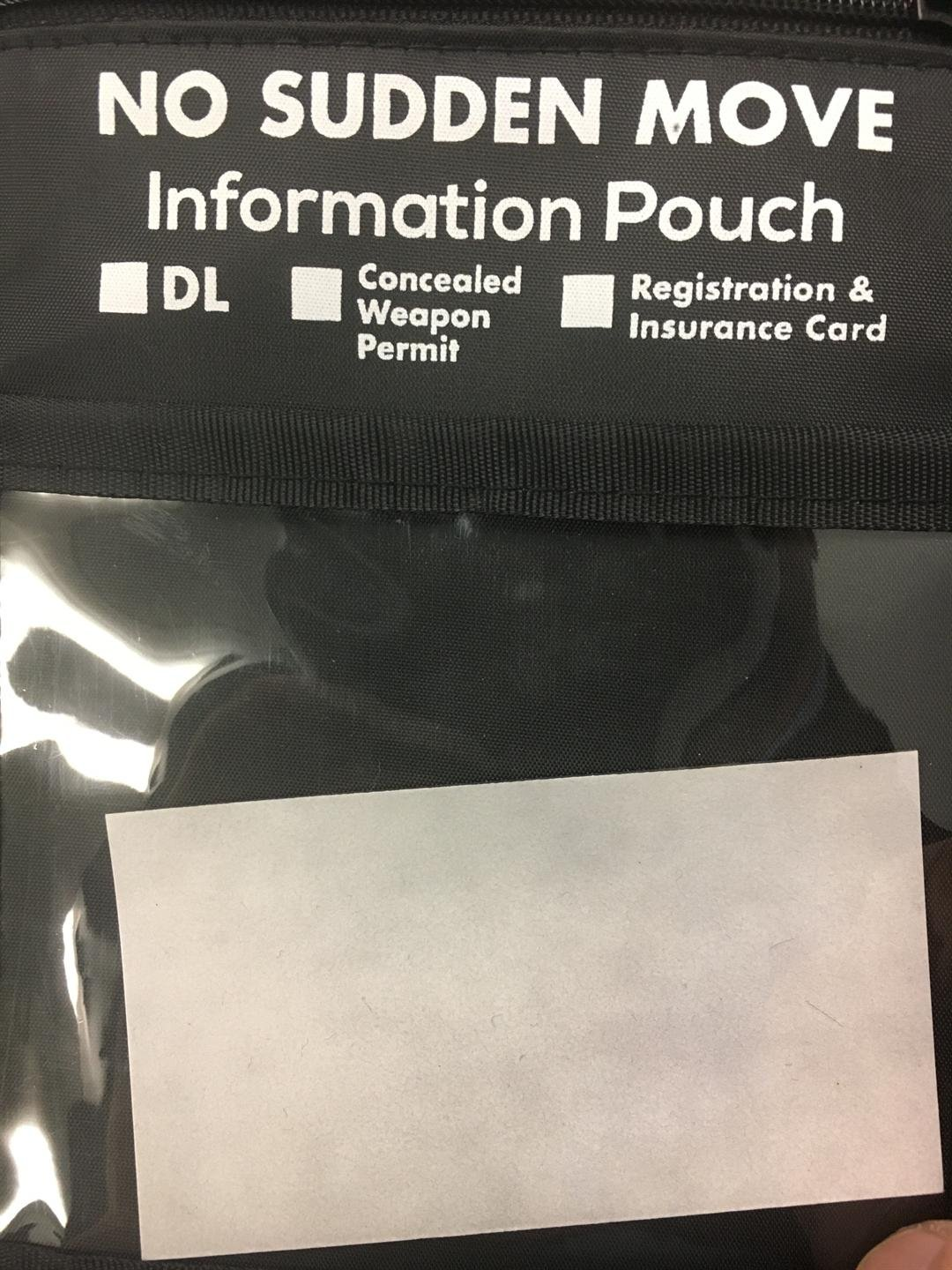 Retired officer creates No Sudden Move pouch
