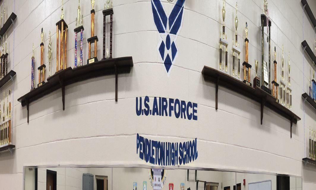 JROTC trophies at Pendleton High School (March 8, 2017)