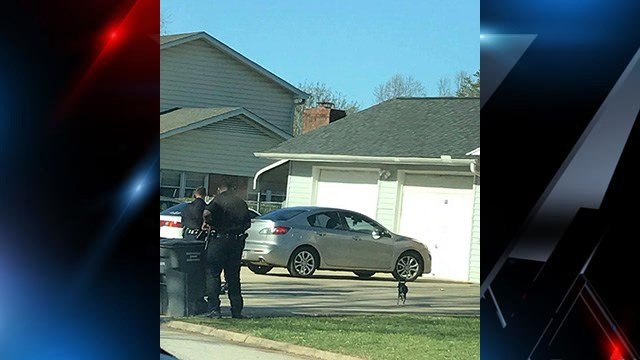 Scene of SWAT raid in Berea. (Source: iWitness)