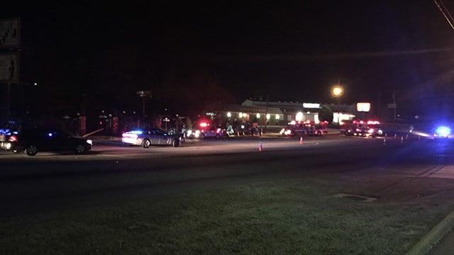 Coroner on scene of accident on Wade Hampton Blvd. (FOX Carolina /3/9/17)