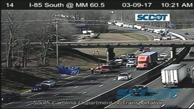 SCDOT footage of the crash site (SCDOT)