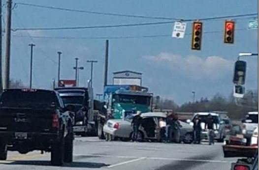 Scene of the crash on Whitehall Road (viewer submitted photo)