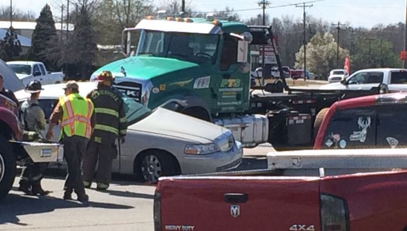 Scene of the crash on Whitehall Road (FOX Carolina/ March 10, 2017)
