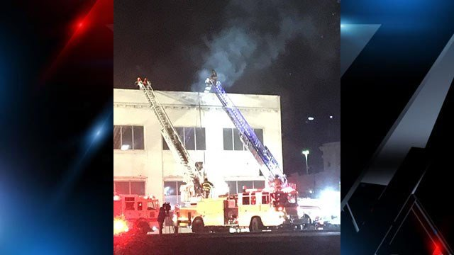 Scene of Spartanburg fire (Source: iWitness)