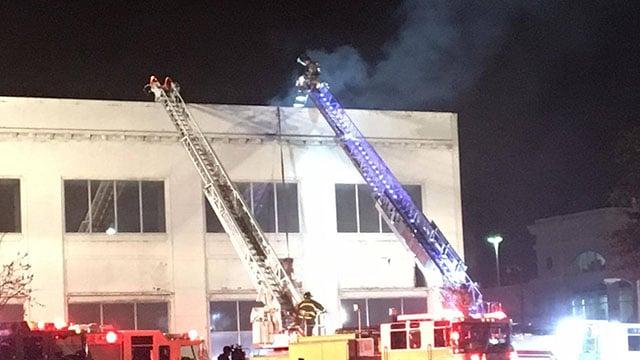Scene of Spartanburg fire (Source: iWitness)