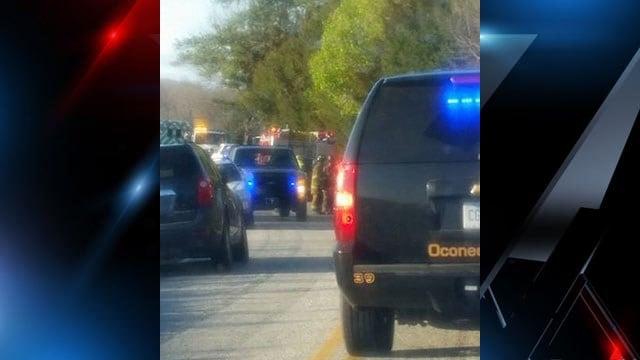 Scene of fatal Oconee County crash. (Source: iWitness)