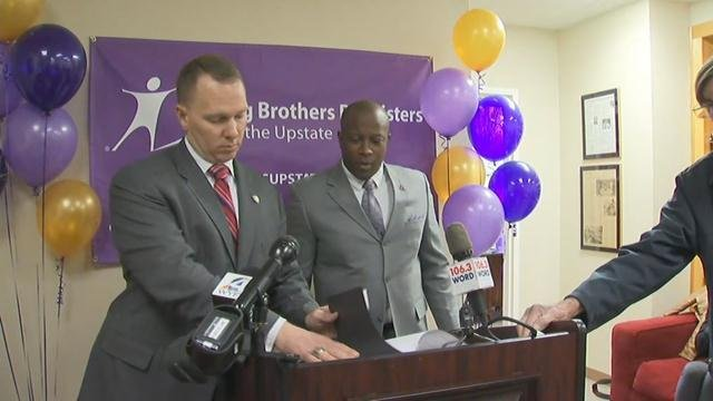 """Greenville Co. Sheriff's Office and Big Brothers Big Sisters announce start of """"Bigs in Blue"""" program (March 13, 2017)"""