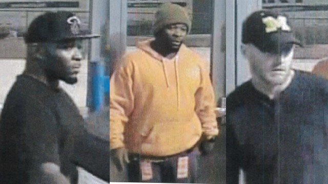 Police say these three men are connected to the tire thefts. (Source: SPD)