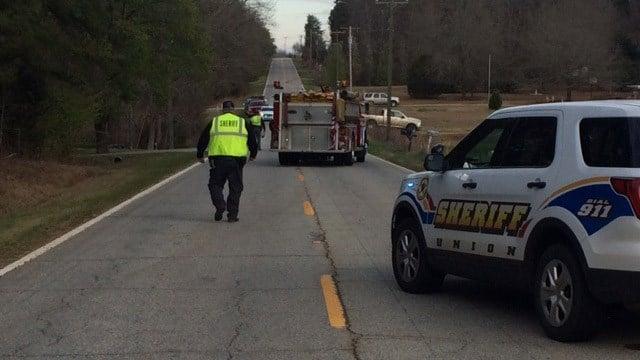 Scene of accident in Union Co. (March 14, 2017 FOX Carolina)