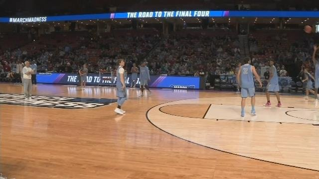 Teams, fans, pack Bon Secours Wellness Arena for open practices. (FOX Carolina/ March 16, 2017)