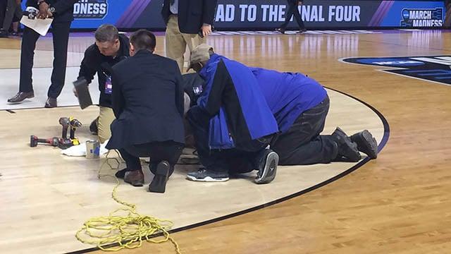 Crews work to repair court at The Well (Mar. 17, 2017/FOX Carolina)