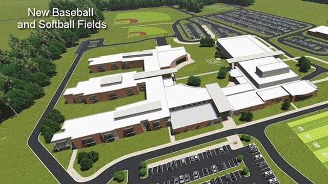 Renderings: New Boiling Springs High School. (Source: Spartanburg Dist. 2)
