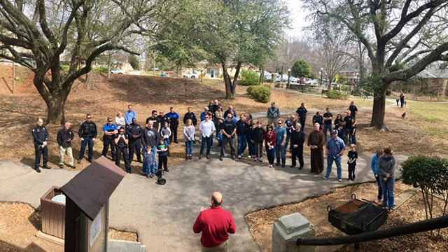 Greenville police host cookout in honor of Officer Allen Jacobs on the anniversary of his death. (Source: Greenvillle Police Department Facebook)