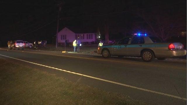 Scene of Greer hit-and-run crash (FOX Carolina/ 3/18/17)