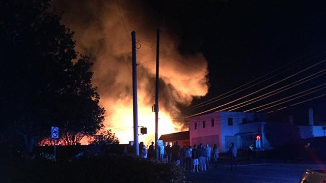 Fire on Rutherford Road (Source: iWitness)