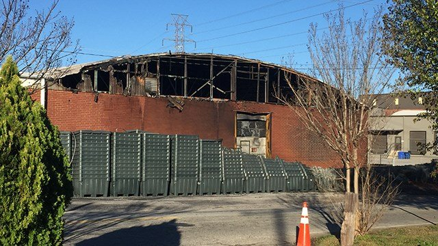 Day after fire on Rutherford Road. (March 19, 2017 FOX Carolina)