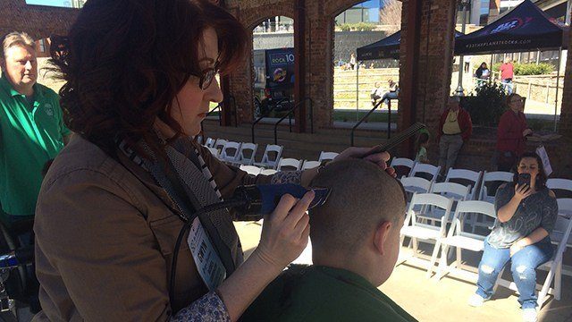 St. Baldrick's event in downtown Greenville. (March 19, 2017 FOX Carolina)