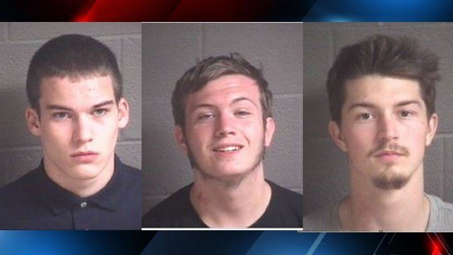 (left to right) Nicholas Ivers, Zackary Emery, Jordan Scott (Source: BCSO)