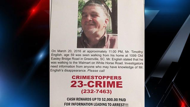 Missing poster for Timothy English (Source: Family)