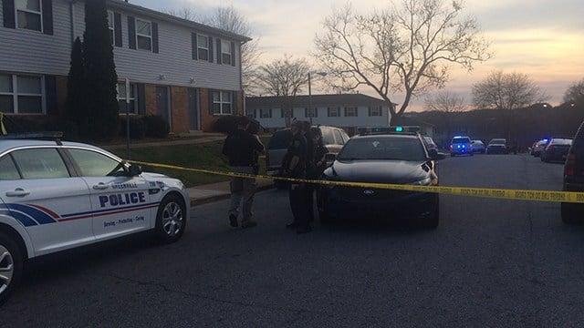Police outside Shemwood Crossing (March 20, 2017 FOX Carolina)