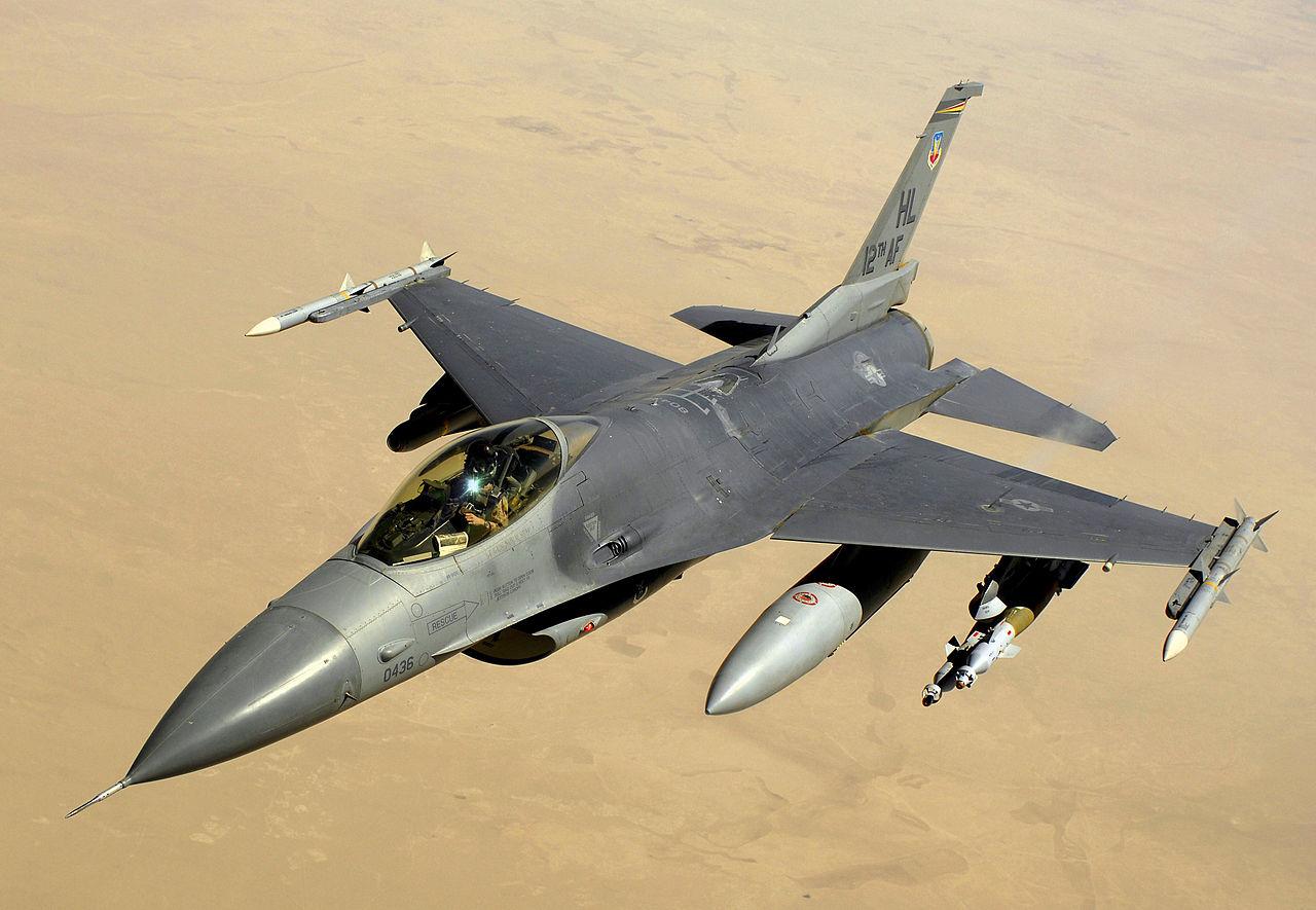 A U.S. Air Force F-16 Fighting Falcon (Courtesy: USAF)