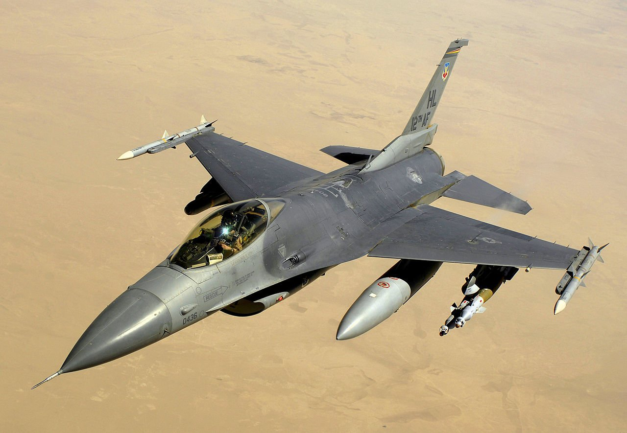 A U.S. Air Force F-16 Fighting Falcon (Courtesy: USAF)