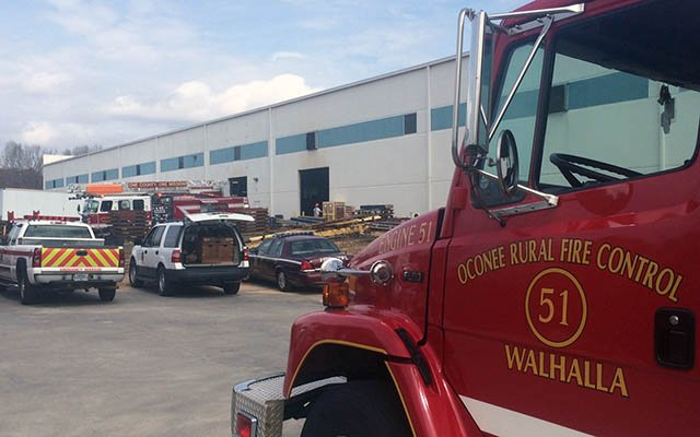 Firefighters respond to Westminster plant. (Mar. 27, 2017/FOX Carolina)