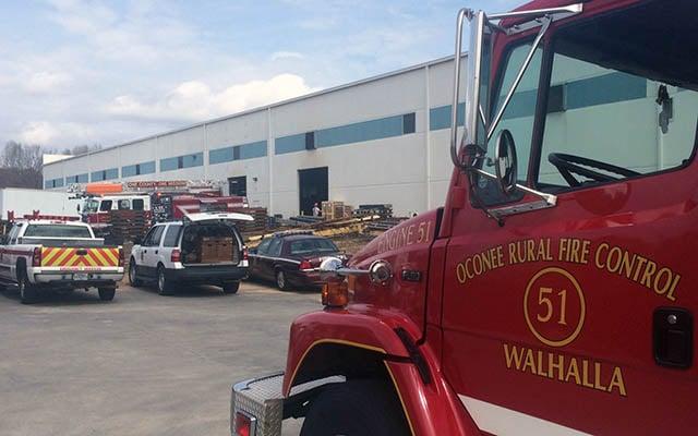 Firefighters respond to Westminster plant. (Mar. 27, 2017/FOX Carolina)