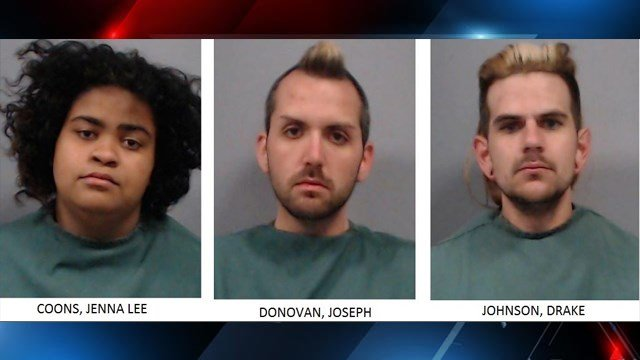 Trio arrested for breaking into church and stealing items (Source: Newberry Co. Sheriff's Office)
