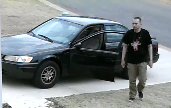 Photo of the suspect and his vehicle (Courtesy: Greer PD)