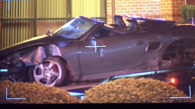 Vehicle involved in Boiling Springs crash. (FOX Carolina/ 3/29/17)