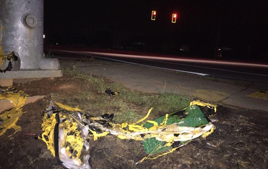 Debris from the crash on Emerald Road (FOX Carolina/ March 30, 2017)