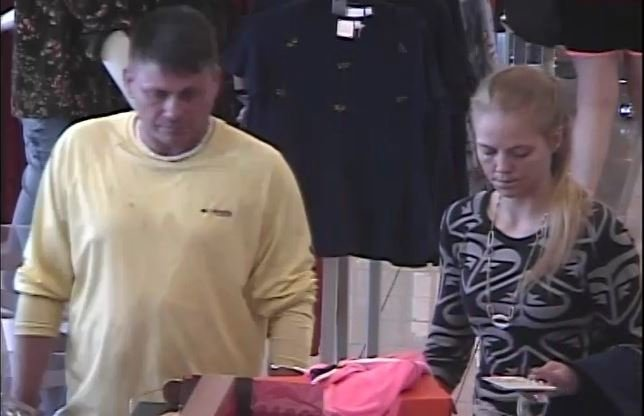 Police said the suspects used the stolen card at 2 stores (Courtesy: GPD)