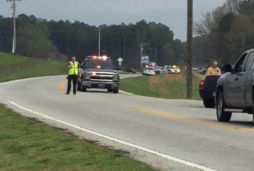 Scene of fatal collision involving cyclist (Mar. 30, 2017/FOX Carolina)