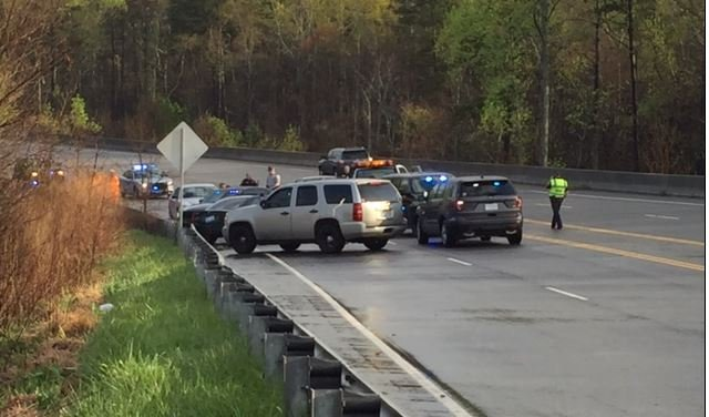 Scene of the deadly crash (FOX Carolina/ March 31, 2017)