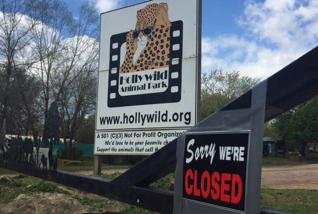 Closed sign outside Hollywild (Mar. 31, 2017/FOX Carolina)