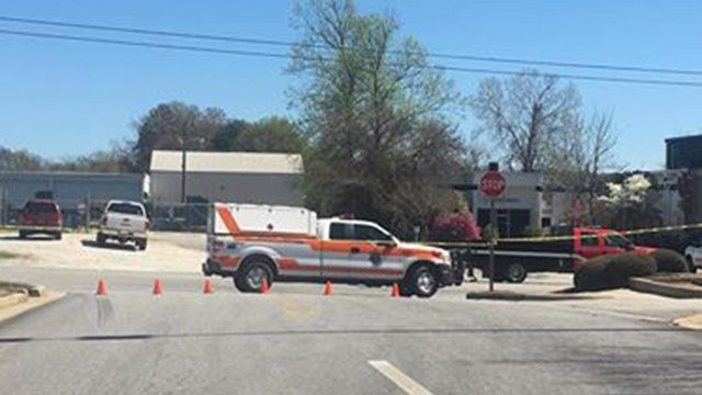 Emergency crews on scene of chemical spill near Greenville Co. Animal Care. (Source: Jonathan C.)