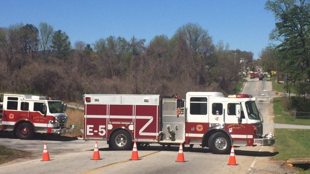 Emergency crews on scene of chemical spill near Greenville Co. Animal Care. (April 1, 2017 FOX Carolina)