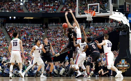 Gonzaga and South Carolina battle it out in the Final Four (Source: Associated Press)