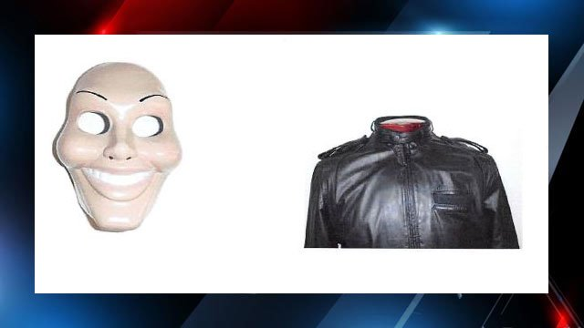Examples of possible masks, jacket worn by suspects in KFC robbery (Source: Spartanburg PD)