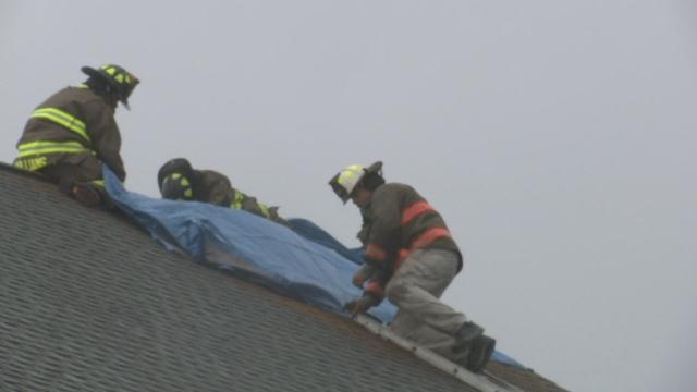 Firefighters at Tabernacle Baptist Church (Apr. 3, 2017/FOX Carolina)