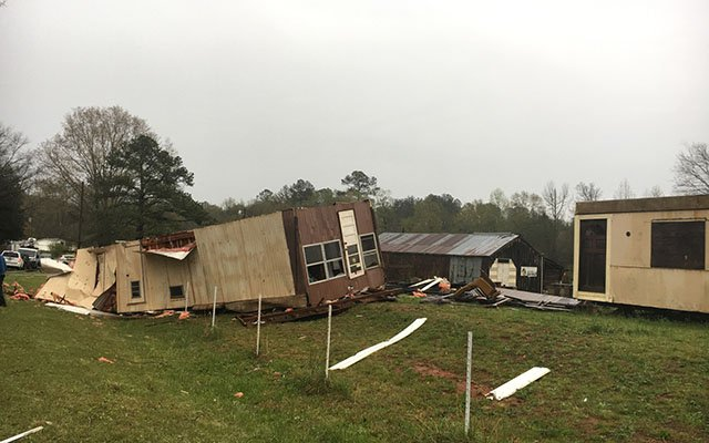 Aftermath of deadly storm on Eaves Road (Apr. 3, 2017/FOX Carolina)