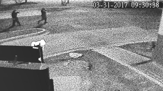 Surveillance footage after KFC robbery (Source: Spartanburg PD)
