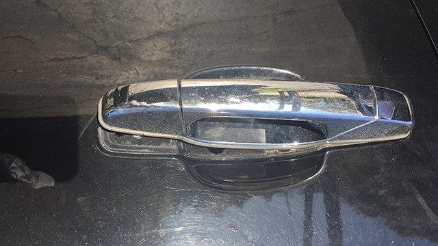 Damage to car door handle. (April 4, 2017 FOX Carolina)