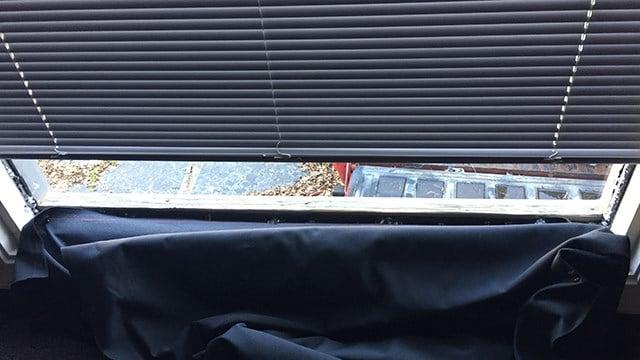 Damage to office window. (April 4, 2017 FOX Carolina)