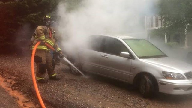 Firefighters called to lightning strike, fire in Cowpens (Source: Goucher-White Plains FD)