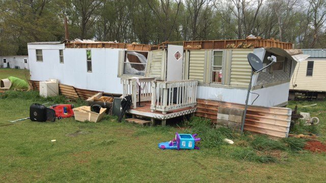A Hart County, GA home sustained severe damage during the severe storms. (April 6, 2017 FOX Carolina)